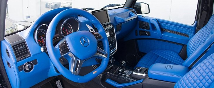 Brabus G500 4x4 Has a Blue Leather Interior That's Nifty ...