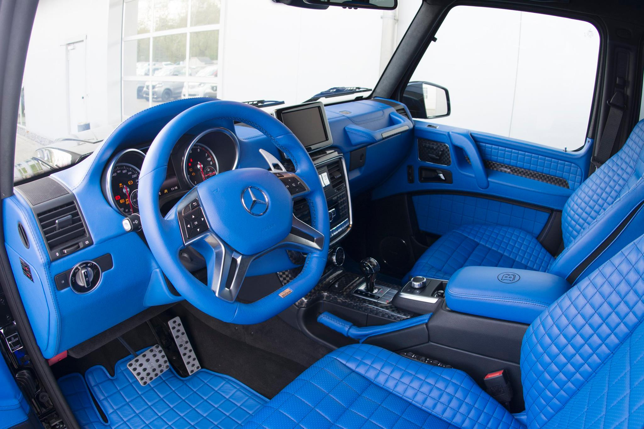 brabus g500 4x4 has a blue leather interior that 39 s nifty. Black Bedroom Furniture Sets. Home Design Ideas