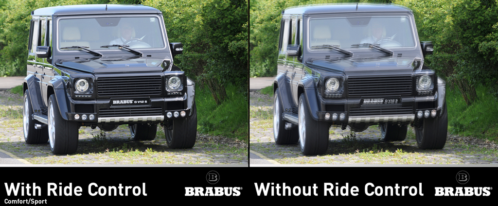 brabus offers adjustable suspension for mercedes g klasse. Black Bedroom Furniture Sets. Home Design Ideas