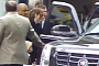 Brad and Angelina Arrive at Autograph Signing in Cadillac [Video]