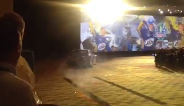 Brad Keselowski Burning Out His NASCAR in a… Hotel Conference Room [Video]