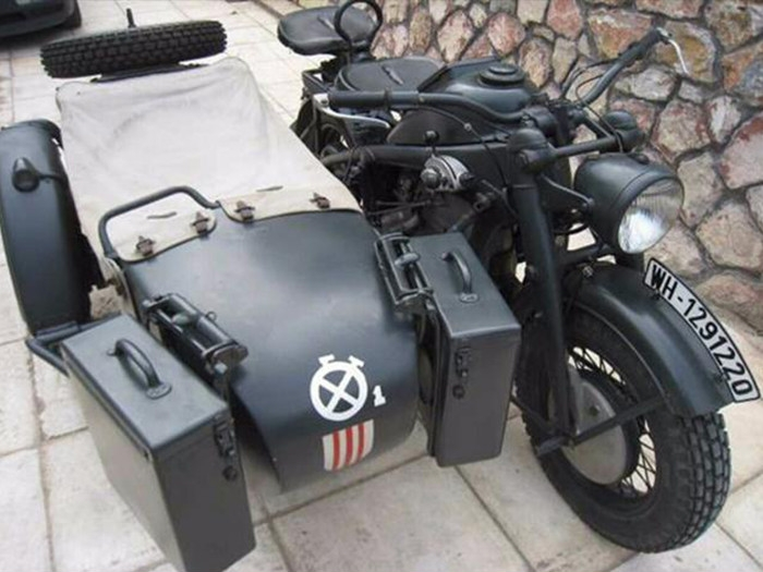 brad pitt buys wwii nazi sidecar motorcycle for almost $400,000