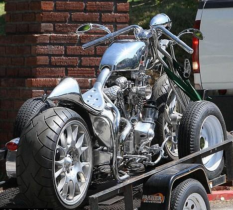 Brad Pitt Gets New Custom Bike