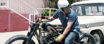 Brad Pitt Helped by Paparazzo in Motorcycle Breakdown