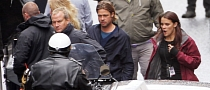 Brad Pitt's Crew on World War Z Set Take Over Parking Spaces
