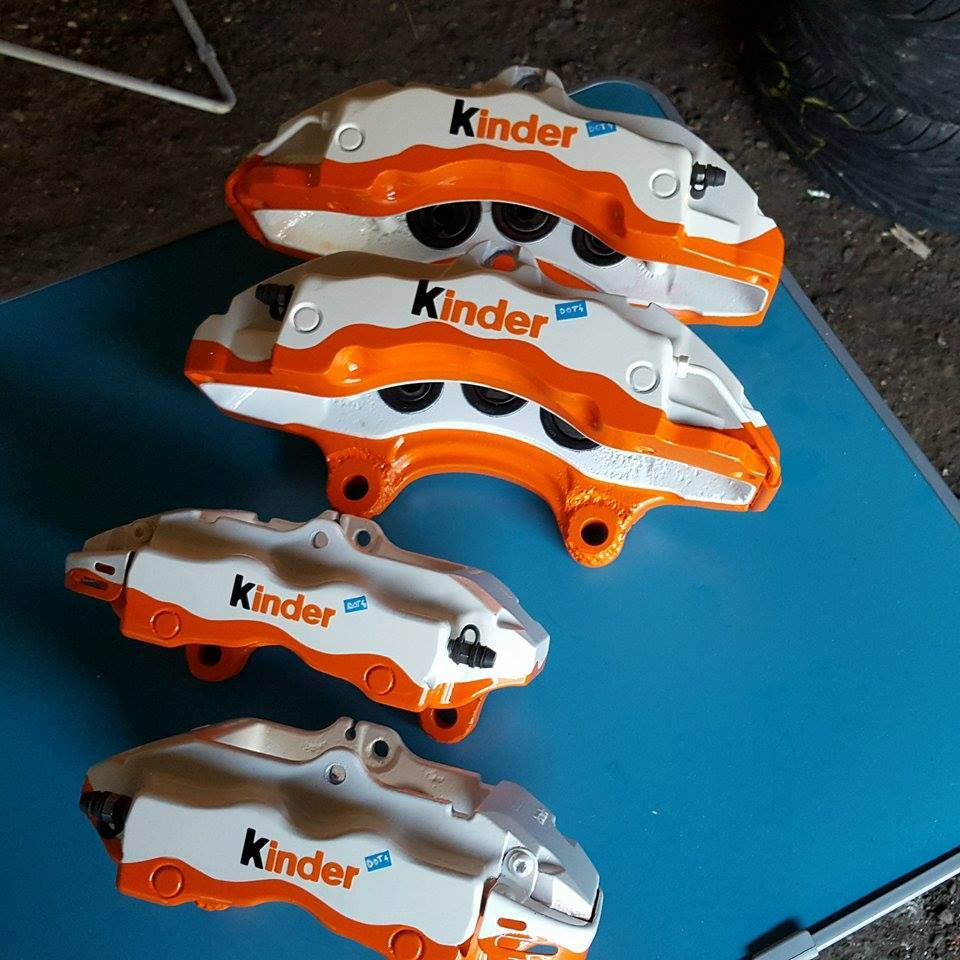Brake Calipers Get Kinder Snack Custom Paint Look