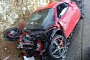 Brand New Ferrari 458 Spider Hits Guard Rail and Falls off Cliff in Spain