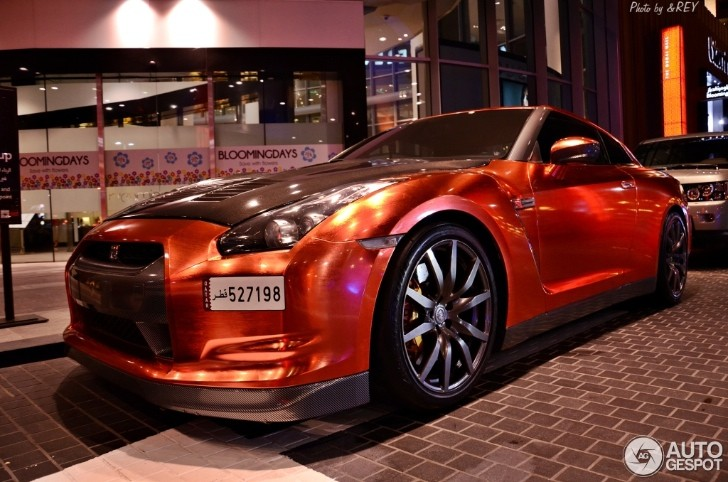 Brass Wrapped Nissan GT-R in Dubai [Photo Gallery]