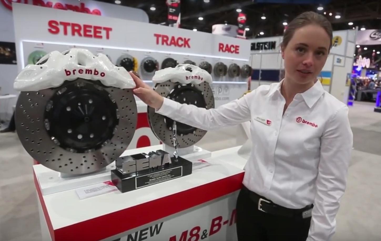 brembo piston sema m8 caliper trucks calipers suvs launches autoevolution biggest rotors