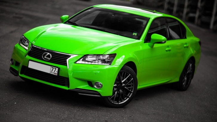 Bright Green Lexus GS Is the Poison Ivy [Photo Gallery]
