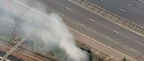 British M1 Motorway Closed North of London Due to Fire