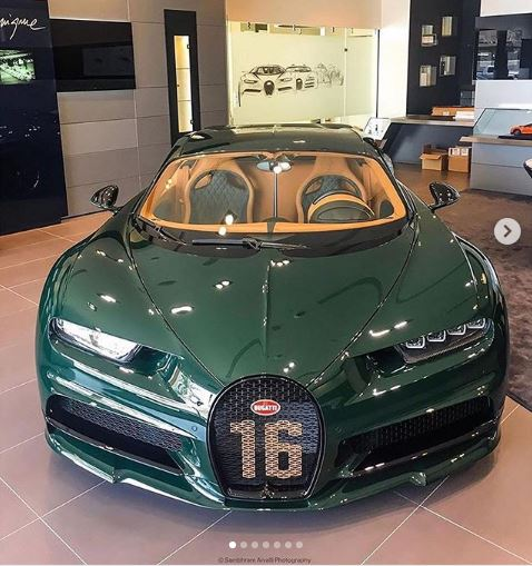 British Racing Green Bugatti Chiron Sport Shows Amazing