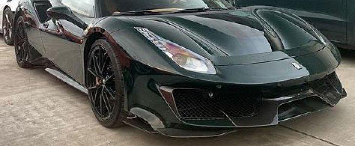 British Racing Green Ferrari 488 Pista Has Wheels In Same Color Autoevolution