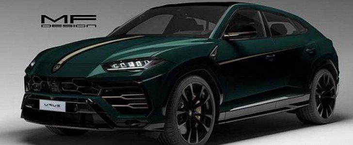 British Racing Green Lamborghini Urus Rendered As Gentleman Racer Suv Autoevolution
