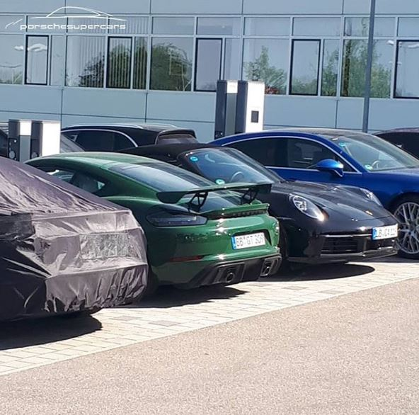 British Racing Green Porsche 718 Cayman GT4 Spotted At