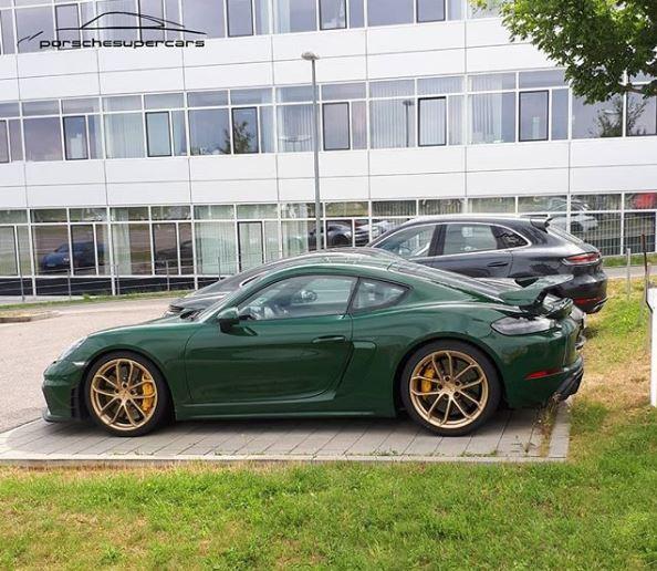 British Racing Green Porsche Porsche 718 Cayman GT4 Shows