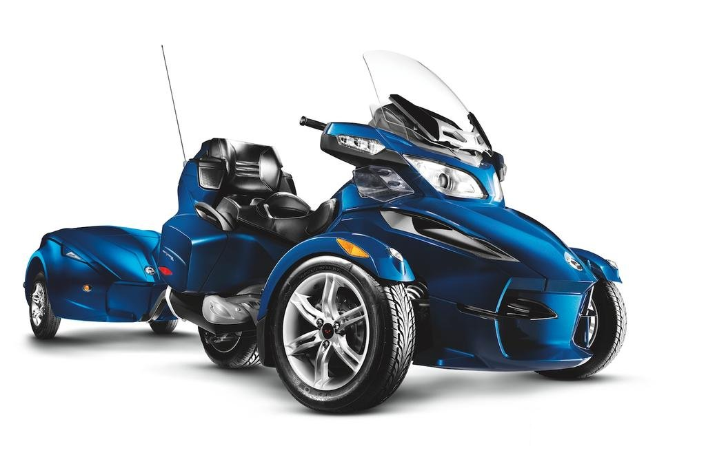 On The  Can Am Spyder Rt With The Sm Manual Transmission Option