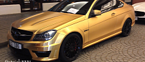 Brushed Gold C63 AMG Coupe Has Opulence [Video]