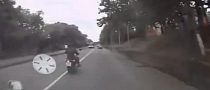 Brutal Bike Crash while Overtaking in Forbidden Section [Video]