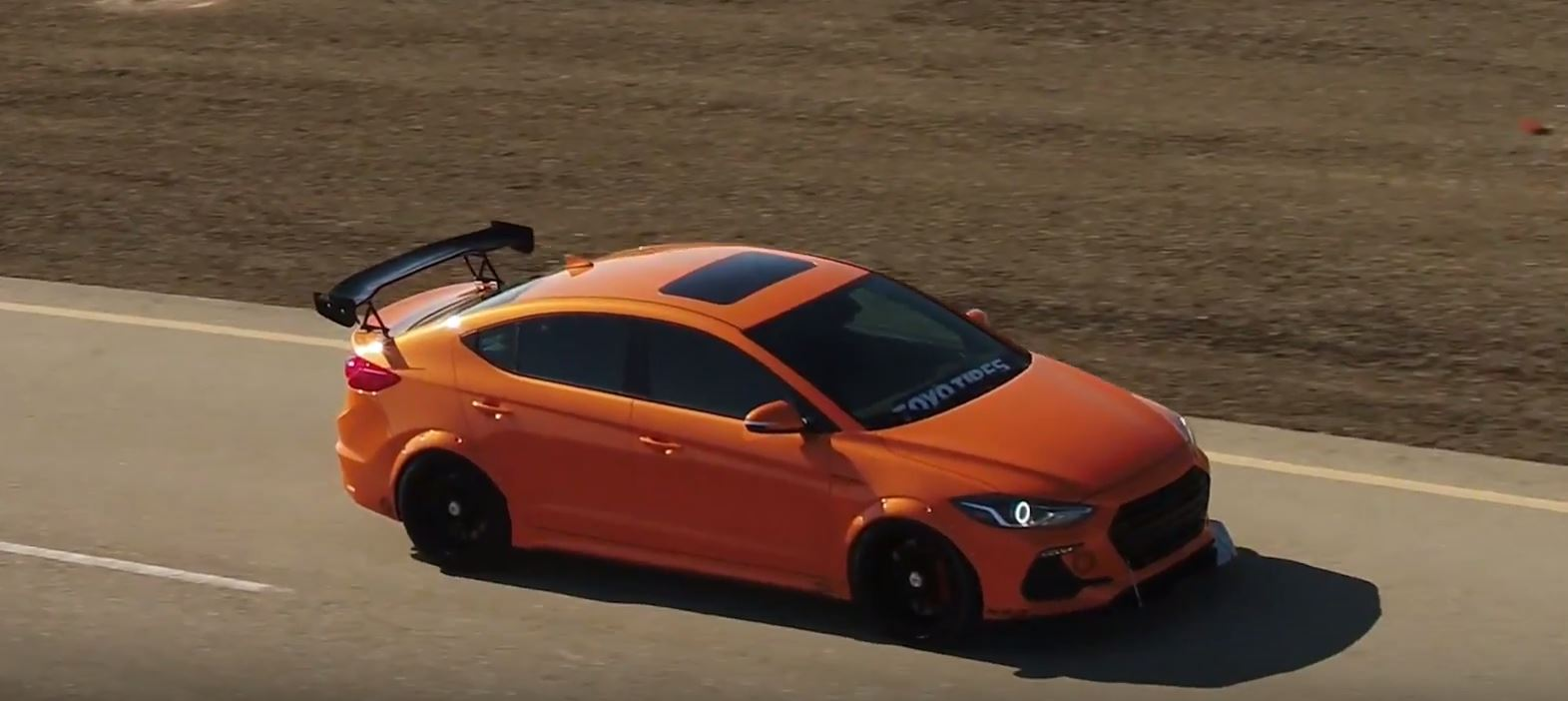 Btr Hyundai Elantra Sport Concept Has Lambo Paint For Sema