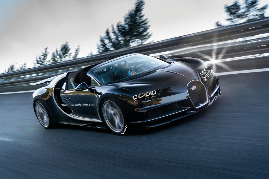 Bugatti Chiron Grand Sport Roadster Rendering Peeks Into