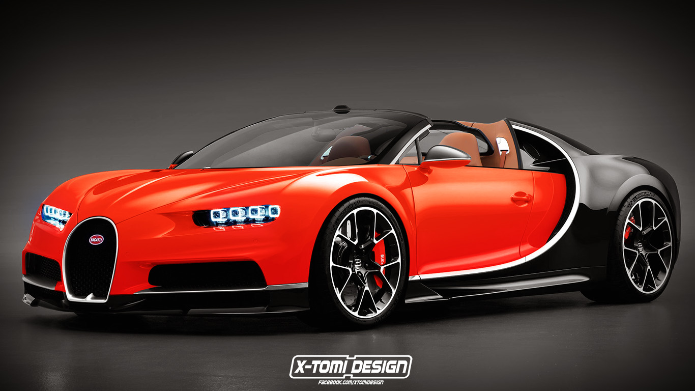 bugatti chiron grand sport roadster rendering looks cool autoevolution. Black Bedroom Furniture Sets. Home Design Ideas
