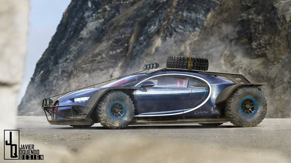 Bugatti Chiron Rally Raid Car Caught Riding Dirty In This