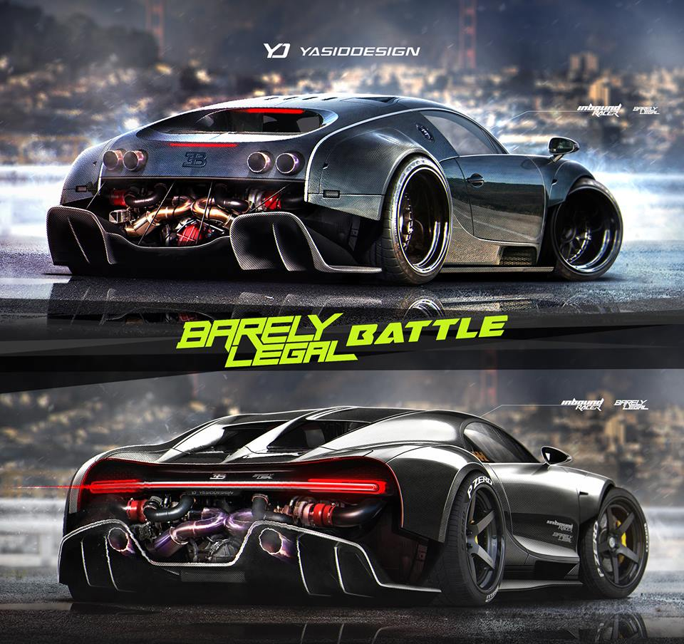 Bugatti Chiron: Bugatti Chiron Vs. Veyron, The Rendering Battle That