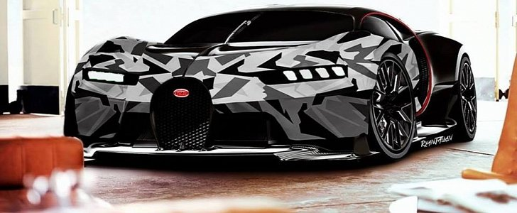 Bugatti Chiron Gets Arctic Wrap In Psychedelic Rendering