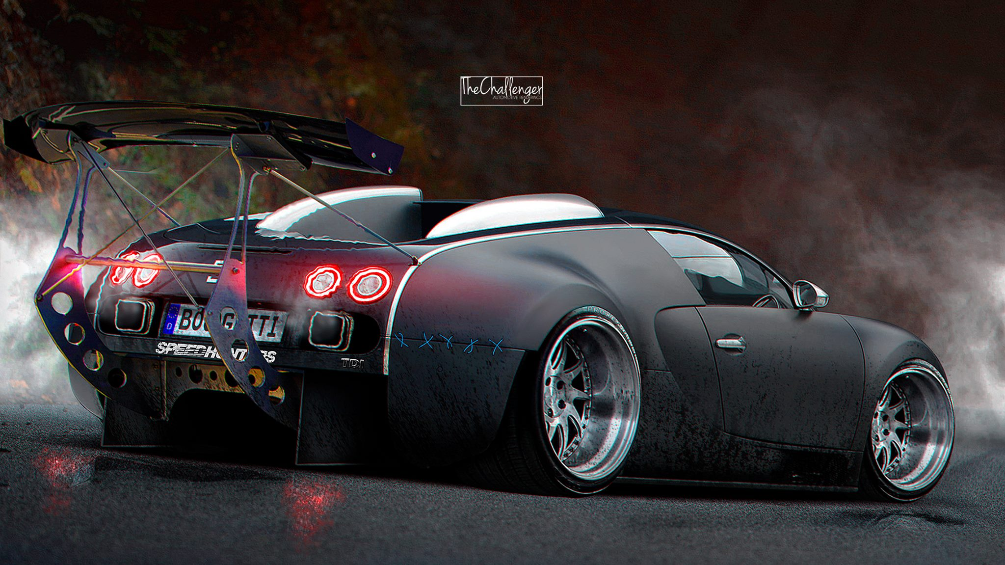 Bugatti Veyron Gets Stanced, Luckily It's a Rendering ...