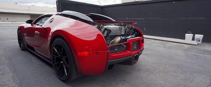 bugatti veyron gets titanium exhaust system quad turbo w16 sounds brutal autoevolution