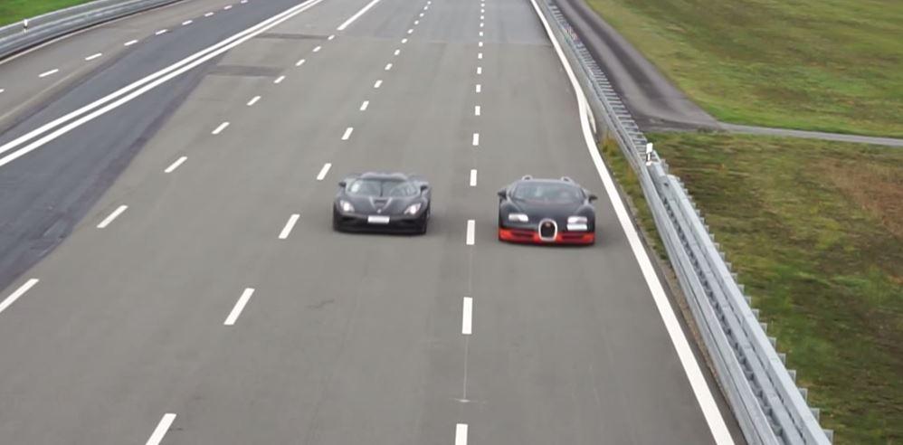 bugatti veyron grand sport vitesse takes on koenigsegg agera r in ultimate drag race video. Black Bedroom Furniture Sets. Home Design Ideas
