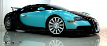 Bugatti Veyron Looks Like a Prom Dress in Tiffany Blue [Photo Gallery]