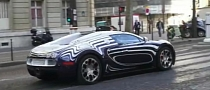 Bugatti Veyron l'Or Blanc Spotted in Paris [Video]