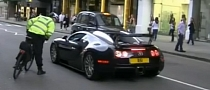 Bugatti Veyron Pulled Over by Police Bicycle in London [Video]