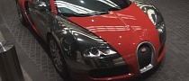 Bugatti Veyron Shines in Red and Chrome [Video]