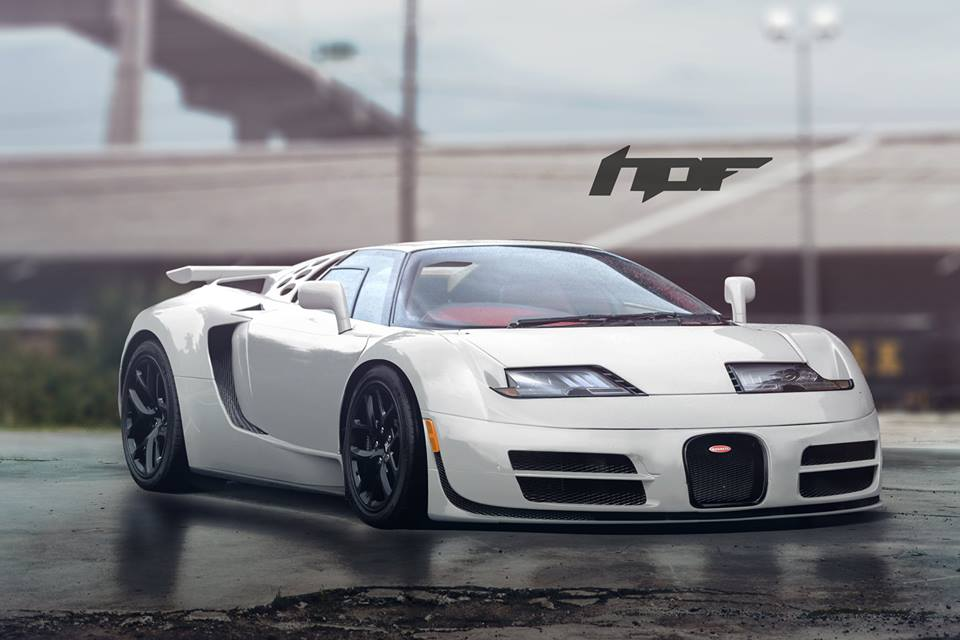 Bugatti Veyron SS Meets EB110 in Awesome Generation Gap-Busting ...