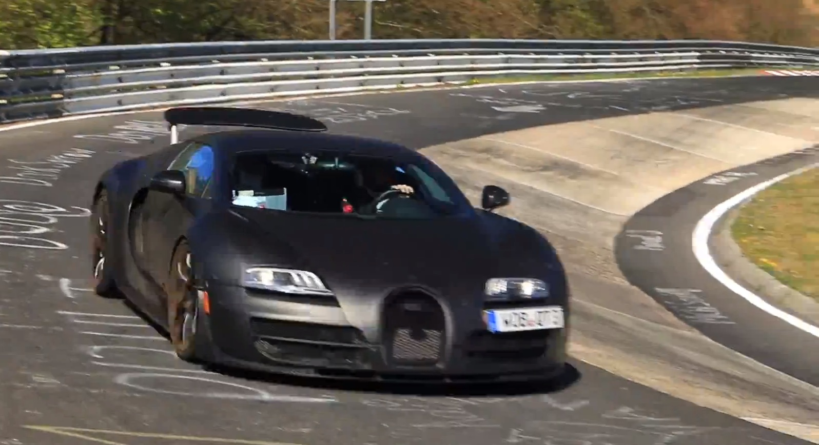 bugatti veyron successor prototype seen driving slowly. Black Bedroom Furniture Sets. Home Design Ideas
