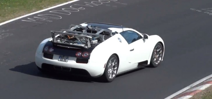 bugatti veyron test mule seen at the nurburgring. Black Bedroom Furniture Sets. Home Design Ideas