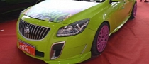 Buick Regal Gets Lime Green Paint and Pink Wheels in China