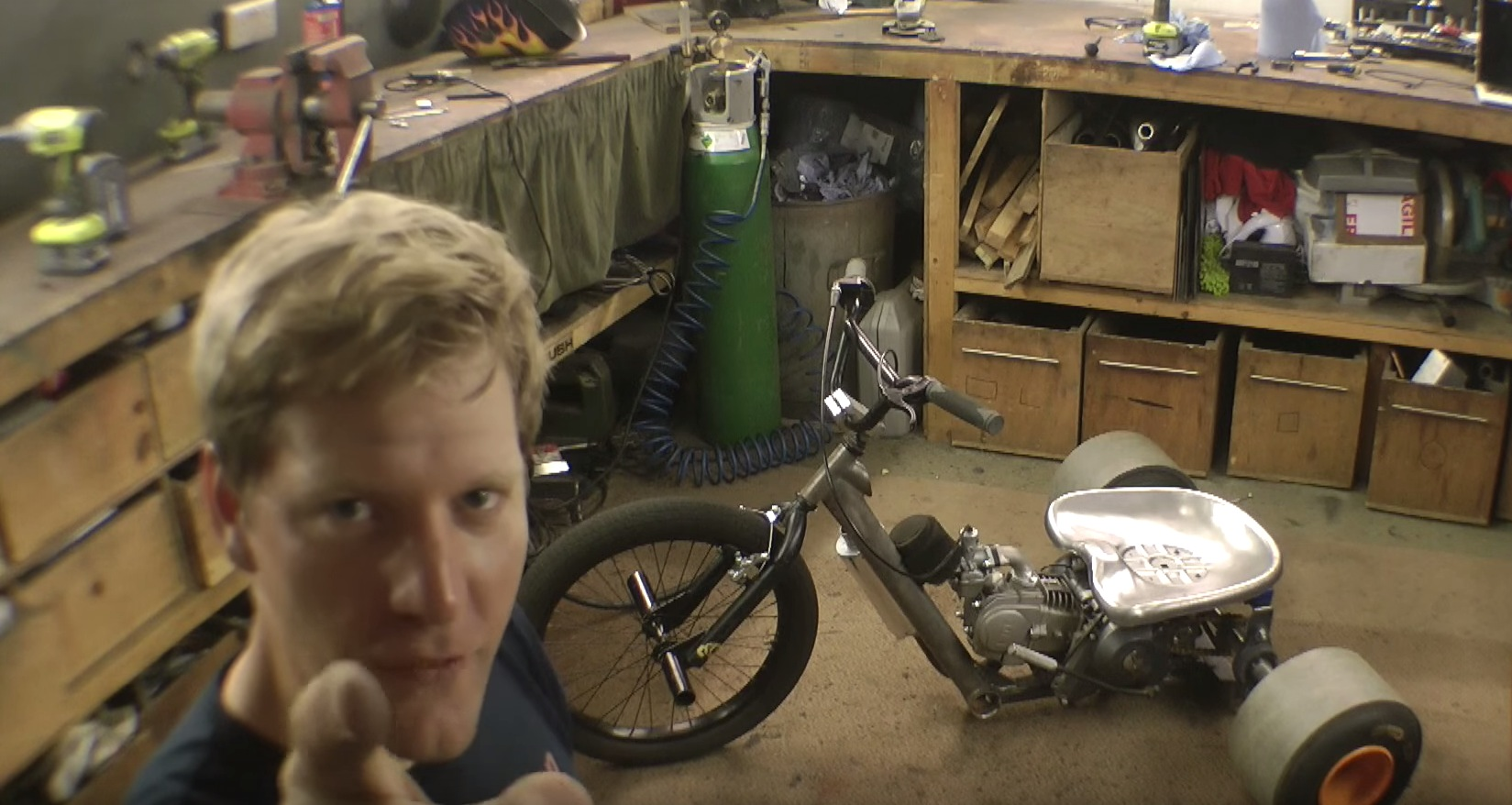 Building a Motorized Drift Trike in Your Garage Looks like a