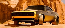 Bumblebee Becomes 1967 Camaro in Transformers 4