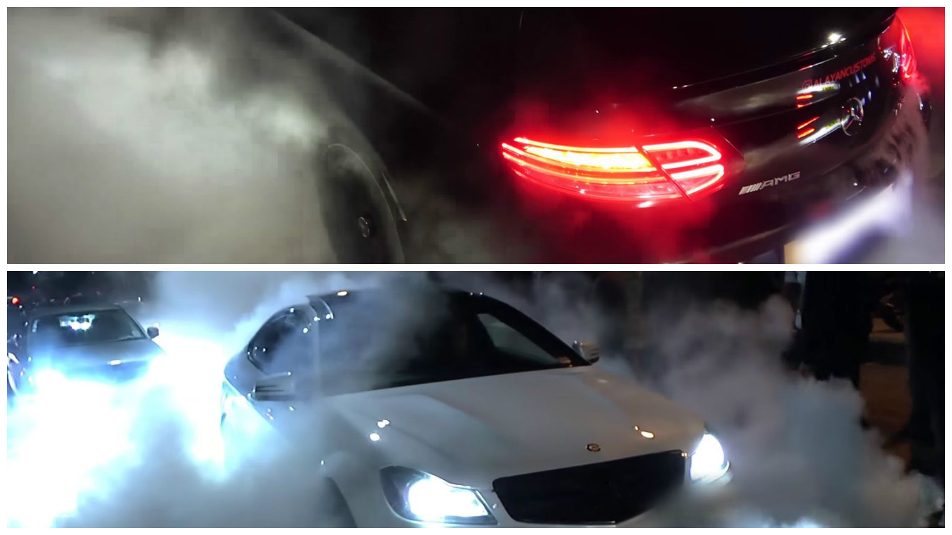 Burnout Comparison: 2017 C63 AMG Coupe vs  the Old C204