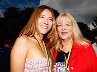 Button's mother Simone with his former girlfriend Jessica Michibata