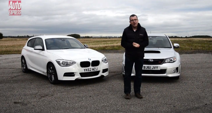 BWM M135i Goes Head to Head with the Subaru WRX STi on AutoExpress' Test Track [Video]