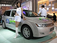 BYD E6, in the background