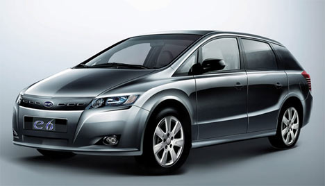 Byd S E6 Electric Car Will Be Displayed At Naias