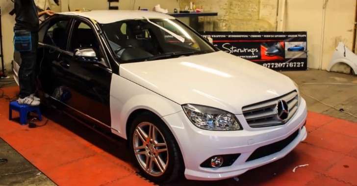 C-Class Goes From White to Black in 2 Minutes in Time Lapse [Video]