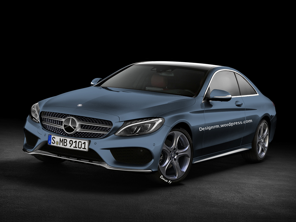 c205 mercedes c class coupe amg package rendered autoevolution. Black Bedroom Furniture Sets. Home Design Ideas