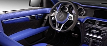 C63 AMG Gets Blue Crocodile and Carbon Fiber Interior [Photo Gallery]